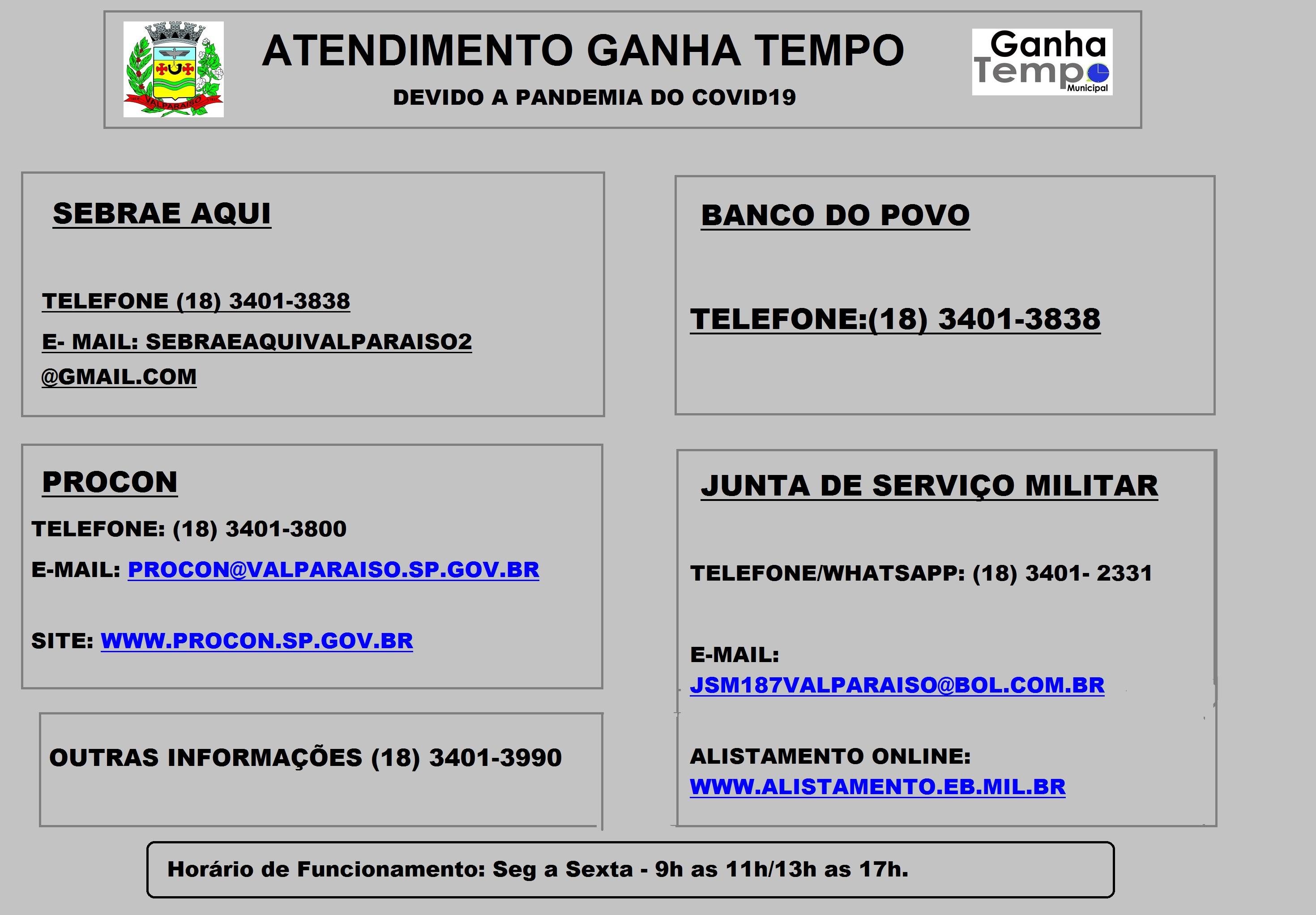 FUNCIONAMENTO DO GANHA TEMPO